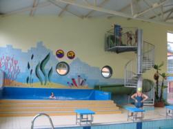 zjeżdżalnia dł. 47m i mała niecka basenu