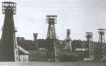 Szyby naftowe okolic Brzozowa, lata 30-te.